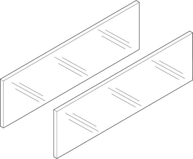 Боковая вставка LEGRABOX, высота 138 мм, НД=450 мм, стекло прозрачное, 2 шт. в комплекте, для LEGRABOX free