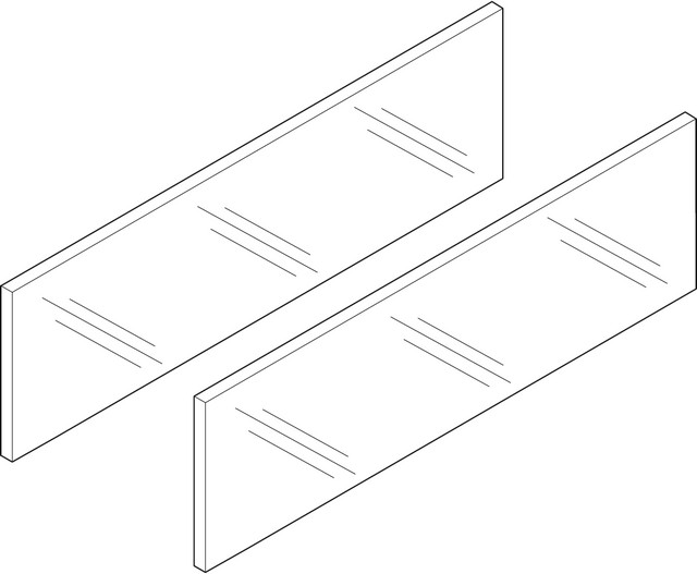 Боковая вставка LEGRABOX, высота 138 мм, НД=500 мм, стекло прозрачное, 2 шт. в комплекте, для LEGRABOX free