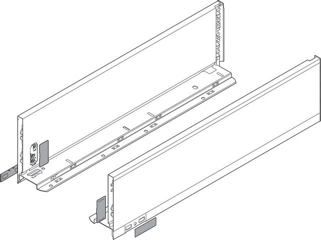 Царги LEGRABOX, высота K (128,5 мм), НД=400 мм, левая и правая